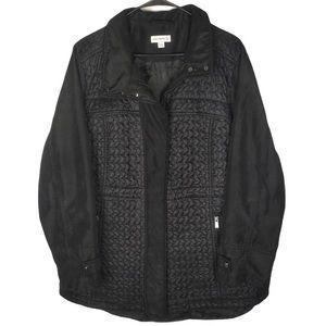 Susan Graver Black Quilted Lightweight Jacket